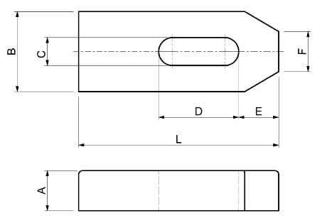 Dimensioni Staffe semplici SPD S210