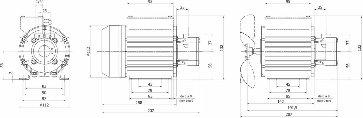 caratteristiche e dimensioni parti elettropompa SAL