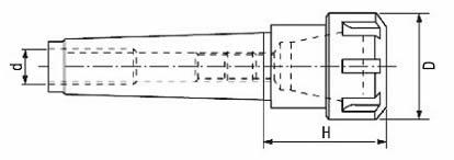 dimensioni mandrini porta pinze 555 LTF