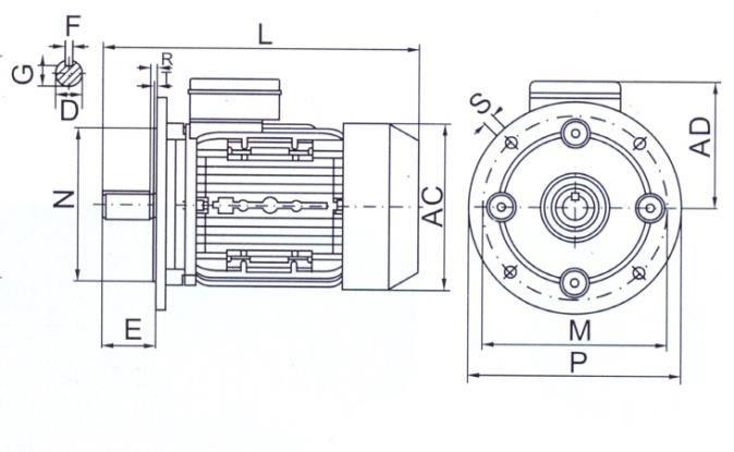 tabella dettagliata motore elettrico B5