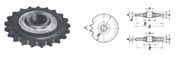 tabella dettagliata pignone tendicatena Z12
