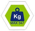 max 347Kg carico complessivo consentito