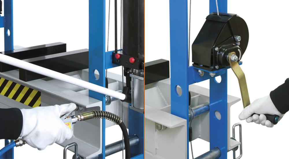 dettagli pressa idraulica Fervi P001/45
