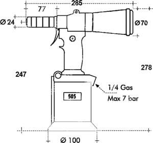 rivettatrice oleopneumatica RIV505