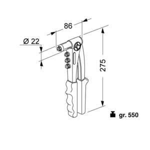 rivettatrice manuale K39
