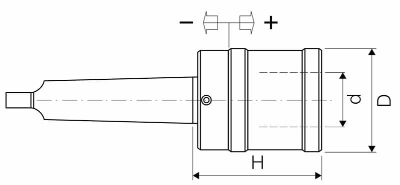 Dettagli tecnici Mandrino maschiatore LTF modello 8040301