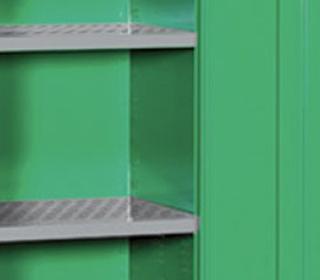 Caratteristiche armadio sicurezza fitosanitari Tecnotelai ripiani