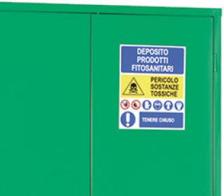 Caratteristiche armadio sicurezza fitosanitari Tecnotelai segnaletica
