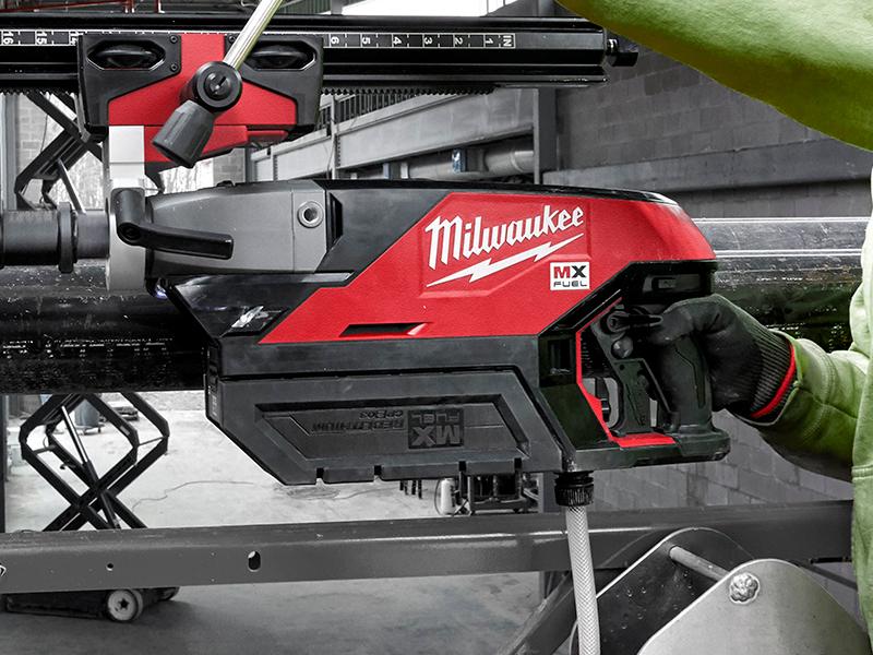 dettaglio carotatrice MX Fuel Milwaukee