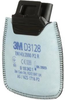 dettaglio filtro a cartuccia Classe P2 D3128 3M Secure Click