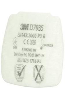 dettaglio filtro a cartuccia Classe P3 D7935 3M Secure Click