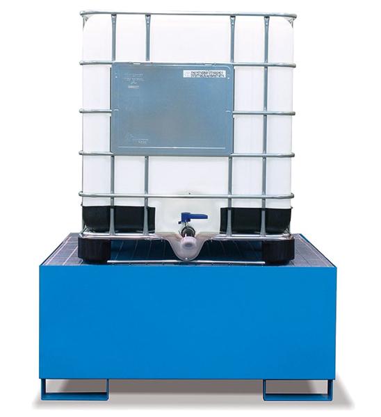 vasca di raccolta cisterna per liquidi e olio in acciaio Fami