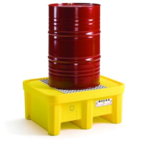 vasca di raccolta in plastica per 1 fusto liquidi e olio Fami