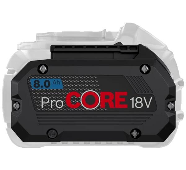 Dimensione compatta e ridotto batterie ProCore Bosch