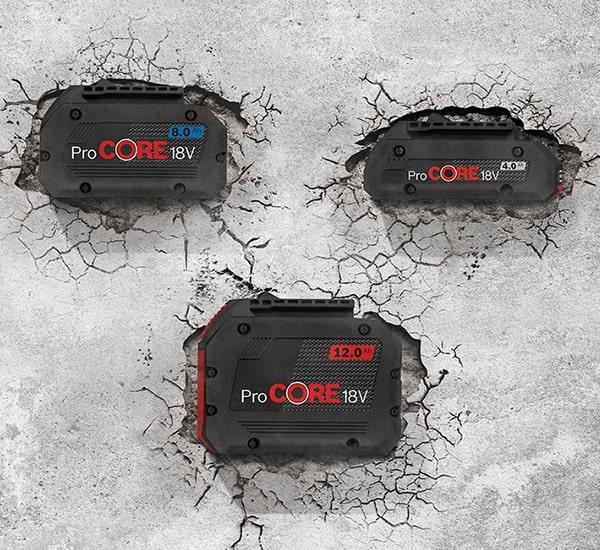 Dimensioni disponibili batteria ProCore Bosch Professional
