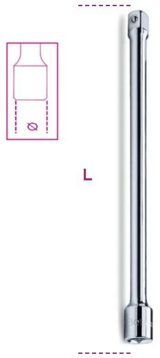 Dimensioni prolunga per cricchetto 920/22 Beta