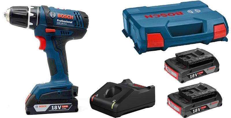 dotazione trapano Bosch GSR 18-2-LI in kit