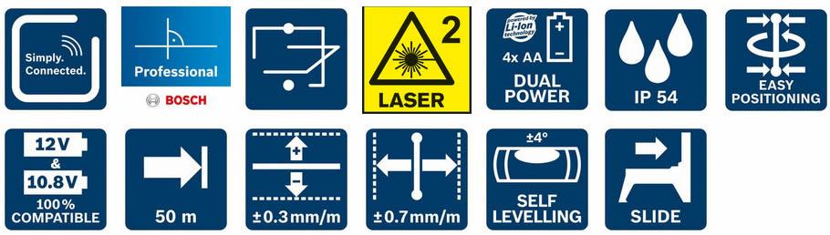 Funzioni e caratteristiche tecniche livella GCL 2-50 C