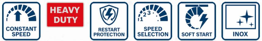 Funzioni satinatrice GSI 14 CE Bosch