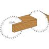 icona taglio traverso legno duro e grappe Klein