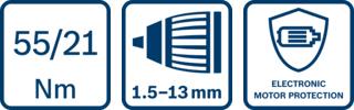 icone funzioni avvitatore Bosch GSB 18V-12
