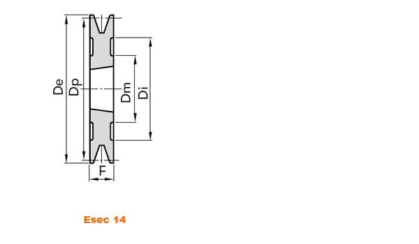 illustrazione misure pulegge 1 gola SPB taper Lock 02