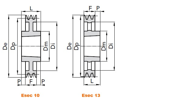 illustrazione misure pulegge 2 gole SPA 02