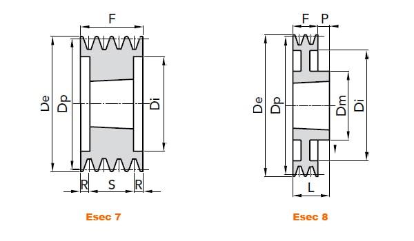 illustrazione misure pulegge 5 gole SPA 02