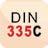 legenda DIN 335C Dormer