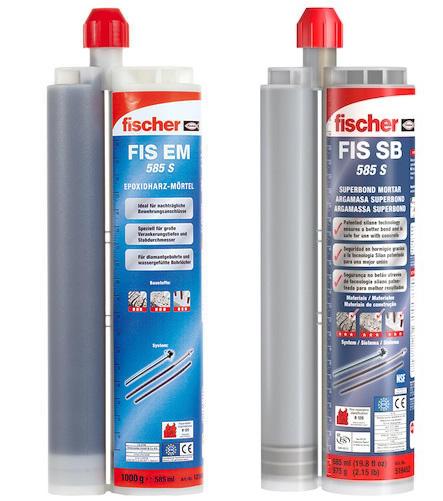 Lista ancoranti chimici Fischer adatti per utilizzo con pistola FIS DM S-L
