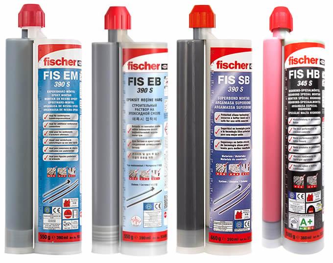Lista ancoranti chimici Fischer adatti per utilizzo con pistola FIS DM S