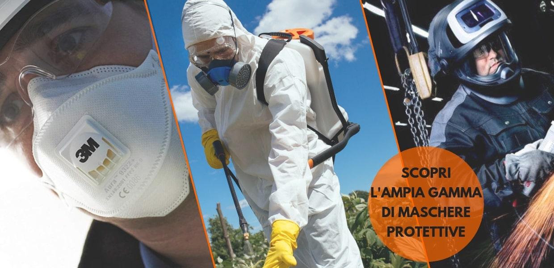 Maschere respiratorie di protezione: semimaschere, caschi o mascherine monouso per ogni esigenza