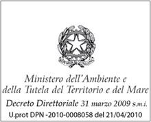 attestato ministero dell'ambiente