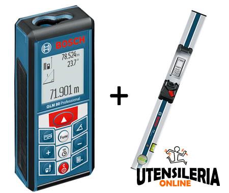 Distanziometro laser GLM 80 Bosch + scala graduata R 60 [BOS0601072301] - Vendita Ferramenta