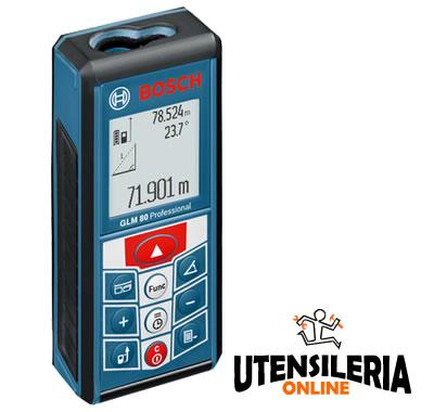 Distanziometro laser GLM 80 Bosch fino 80mt [BOS0601072300] - Vendita Ferramenta