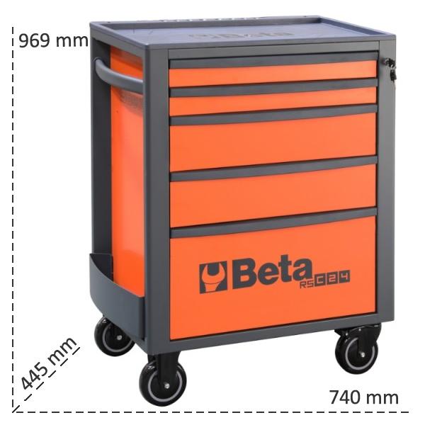 Misure cassettiera Beta RSC24 con 5 cassetti
