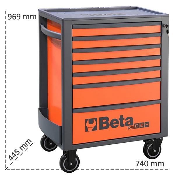 Misure cassettiera Beta RSC24 con 7 cassetti