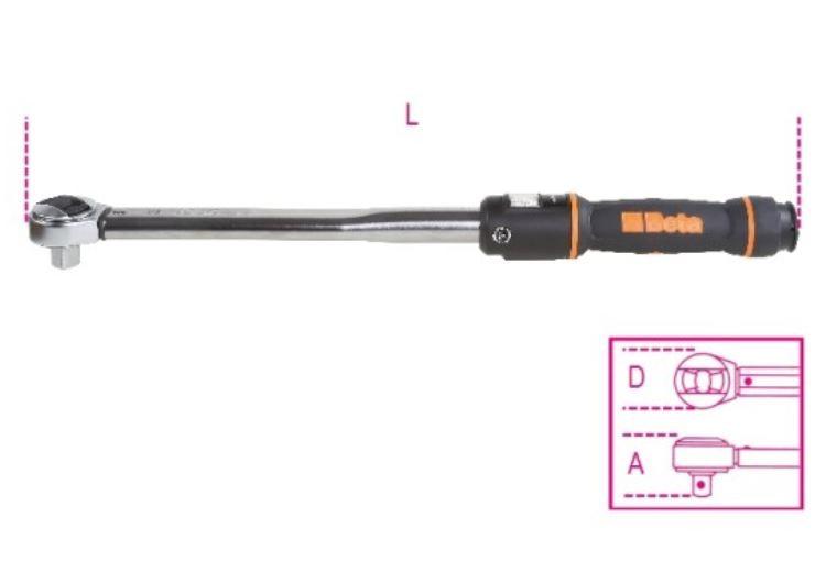 Chiave dinamomentrica Beta 666N/5 misure e lunghezza