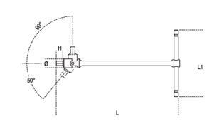 Dettaglio misure Chiavi a T Beta 953