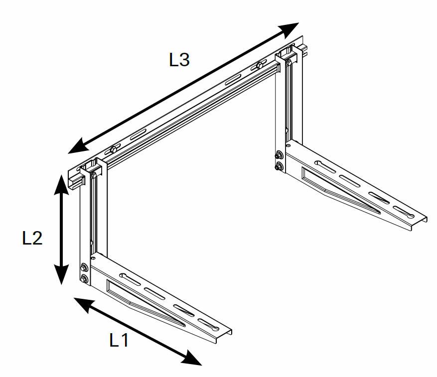 Mensole klima heavy con traversa climatizzatori pesanti for Supporti per mensole pesanti