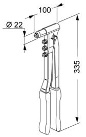 dimensioni rivettatrice FAR K14
