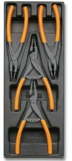 Modulo rigido con pinze per anelli elastici