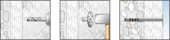 funzionamento ancoraggio metallico fischer DHM