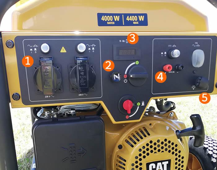 pannello di controllo generatore CAT RP4400