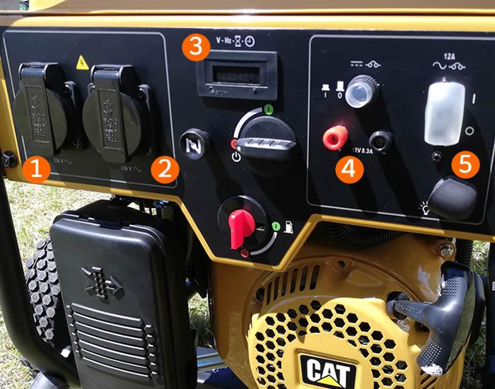 pannello di controllo generatore CAT RP3100