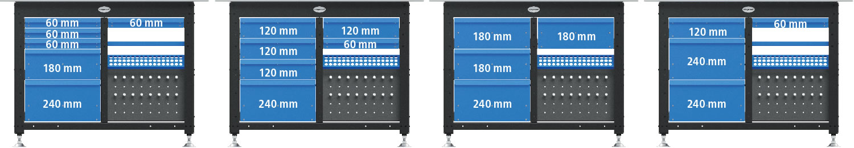 Aree Siegmund Workstation dove poter inserire i cassetti