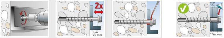 Corretta regolazione vite ULTRACUT con cilindro Fischer