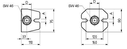 Dimensioni appoggi a vite atlas SPD S130