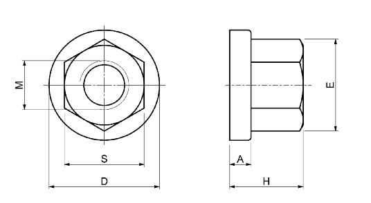 Dimensioni Dadi con rondella SPD S351