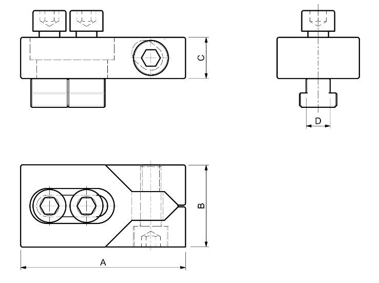 Dimensioni Morsetti laterali SPD ML10